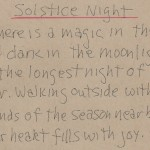 Solstice Night Artist Notes