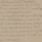 Study with Nystagmus Artist Notes