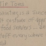 Tip Toes Artist Notes